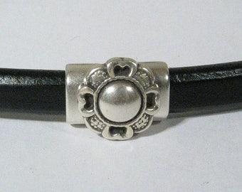 Regaliz Round Flower Spacer Set - Antique Silver - SP2908s