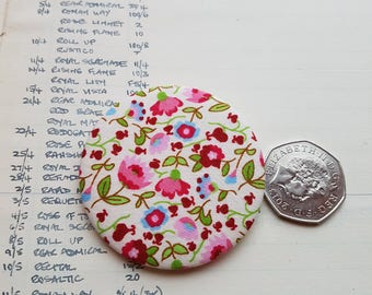 Classic Chic - Liberty Tana Lawn  Fabric Brooch - Handmade Liberty London Fabric Lapel Pin - Pinback Button - Simple Chic Accessory