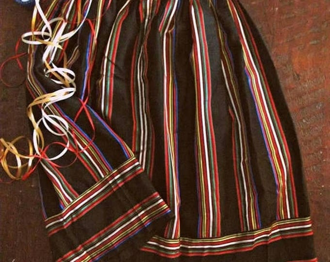 WINTER SALE Vintage 80s ribbon striped skirt / Holiday Party shimmer striped skirt