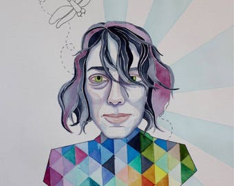 """Custom Portrait Watercolor Painting 14""""x20"""" from Photograph"""
