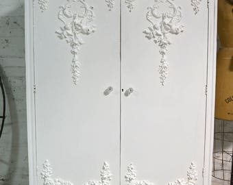 Armoire Painted Cottage Chic Shabby French Romantic Armoire AM230