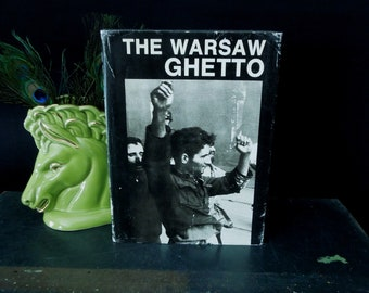 The Warsaw Ghetto Vintage Book - 45th Anniversary of the Uprising - Jewish Poland Nazi Holocaust World War Two History