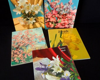 Easter Ideal Magazine Publications - Vintage Art for Repurpose Crafts Display Props Christian Religious - Easter Books