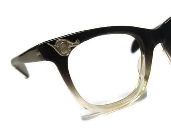 Vintage Mens A/O Horned Rim Eyeglasses Frames American Optical