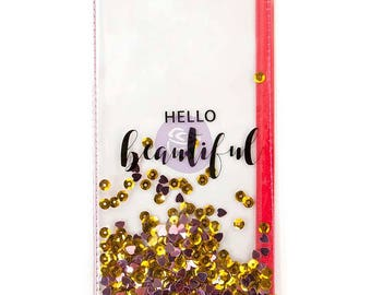 Hello Beautiful Prima Traveler's Journal Clear Shaker Pouch (592943) PTJ Standard Traveler Journal Pockets