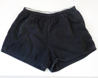 Vintage Black Cotton Gym Shorts • Fruit of the Loom Vintage Gym Shorts