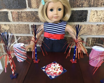 AG and 18 Inch Doll Fourth of July Party Kit
