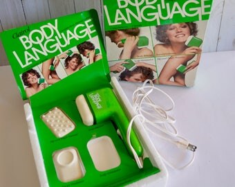 Vintage Clairol Body Language Body Massage System Vintage 1970's Beauty Massager Scalp Stimulator NOT Included