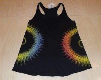 Women's Tank Top - Focus (Rainbow on Black)