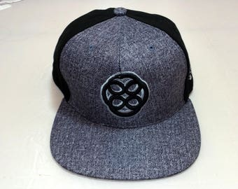 Snapback Flat-Brim Hat - Infinite Ourobouros (One-of-a-kind)