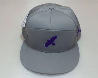 Snapback Flat-Brim Hat - Fly Bird (One-of-a-kind)