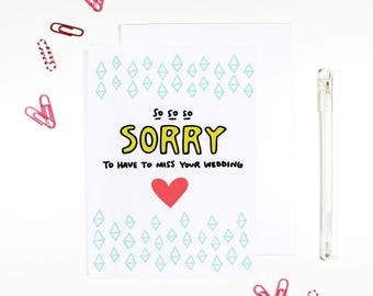Sorry To Miss Your Wedding RSVP Card