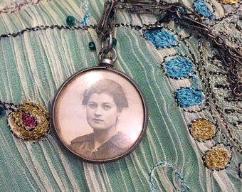 French Locket - Silver - 1800s - Vintage