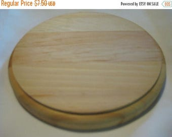 "35% Off Sale Natural Wood Circle Plaque 6"" Diameter x 3/4"" Thick Unfinished Round Circle"