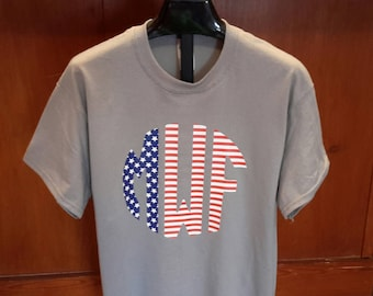 Flag monogram shirt/July 4th monogram shirt