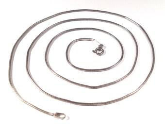 "22"" Italian Sterling Silver Snake Chain -1.5mm"