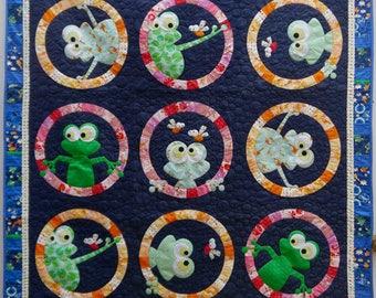 Frog Face Applique Quilt Pattern