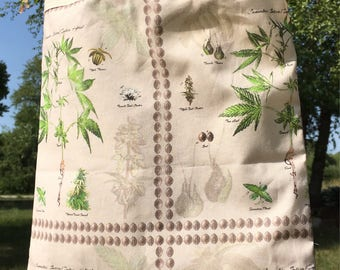 Botanical Cannabis Print Bag