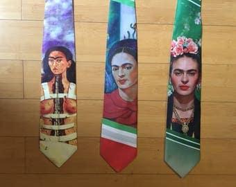 Frida Kahlo Mens Groom Tie