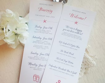 Wedding Itinerary - Style IT41 -  BEACH COLLECTION | wedding itinerary  |  wedding schedule  |  wedding timeline PRINTED