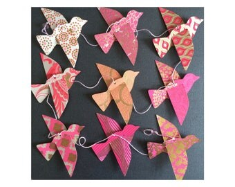 RESERVED for HeidiLaLa--Do Not Buy Unless You are HeidiLaLa - Pink Bird Garland