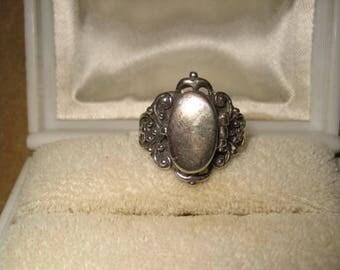 Sterling Silver Poison Ring 6 3/4 Vintage