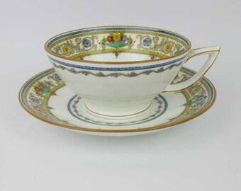 Vintage Minton Plymouth Tea Cup & Saucer Set #B1032 Circa 1925