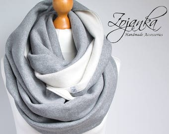 CHUNKY Infinity Scarf, infinity scarf, extra CHUNKY snood, winter scarf, cozy snood, sweatshirt jersey scarf, hooded scarf, hooded infinity