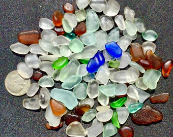 A-Sea Glass! Beach Glass! of HAWAII Beaches 100 COBALT SALE! Genuine Sea glass for Jewelry! Bulk Sea Glass! Sea Glass Bulk!