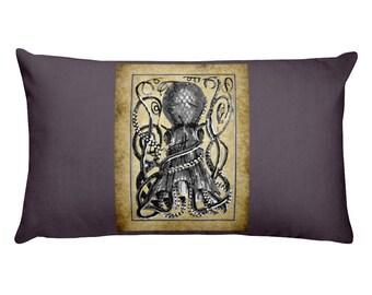 The Kraken/ Giant Octopus- Scurge of the Sea- Rectangular Pillow