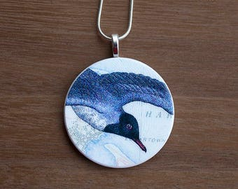 Seagull Necklace, Seagull Pendant, Vintage Seagull, Handcrafted Jewelry, Gift for Bird Lovers, Free Shipping in US