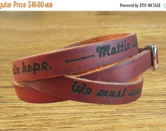 On Sale 20% off bracelet leather bracelet leather cuff wraps with custom engraved womens