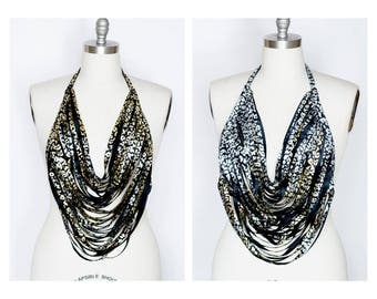 Gold and Silver Reversible Leopard Necklace Reversible