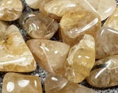 Golden Topaz Tumble Polished Crystal Stone, 1 pc, Sizes 1.25 to 1.6 Inch, TS1254