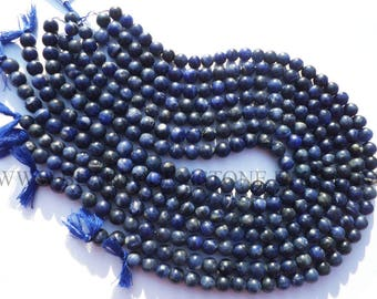 Gemstone Beads, Sodalite Smooth Round (Quality B) / 7.5 to 8.5 mm / 36 cm / SOD-034