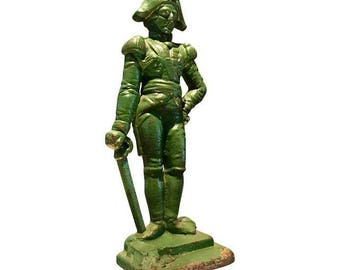 Antique Cast Iron Doorstop of Napoleon