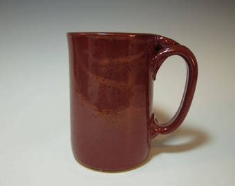 Large Brick Red Coffee Mug, Beer Stein - Holds 18 ounces - In Stock