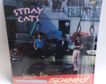 Stray Cats Built for Speed - Vintage Vinyl Record Album 1982 EMI ST-17071 Shrink Exc/EXC
