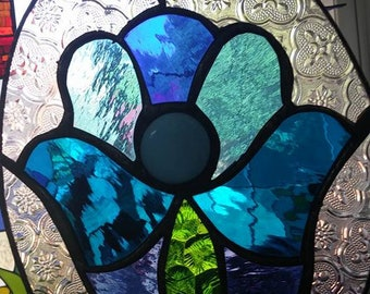 Hamsa,Wall Decor, Suncatcher, Stained glass, Blue colors, Home Decor, Gift,Fatima's hand, Israel, 15% SALE coupon
