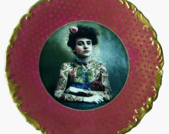 The Tattooed Lady Portrait Plate 8.5""