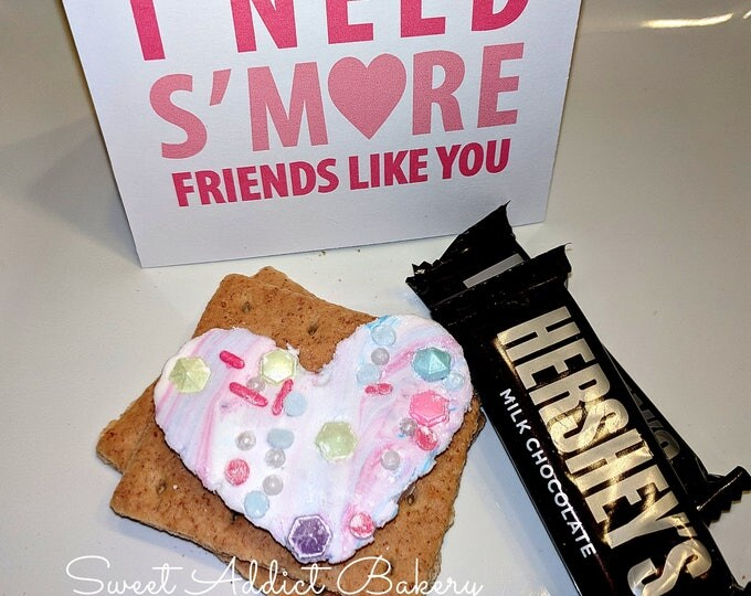 S'MORES VALENTINE GIFT - includes gourmet marshmallow flavor of your choice - cotton candy, cherry, bubblegum and more - ready to gift