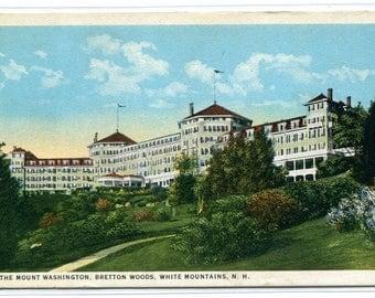 Mount Washington Bretton Woods Hotel White Mountains New Hampshire postcard
