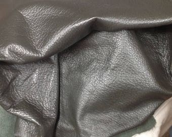 6-896.  Pewter Leather Cowhide Remnant