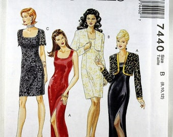 ON SALE McCall's 7440, Misses' Dresses and Bolero Sewing Pattern, Misses' Patterns, Easy Sewing Pattern, Dress Pattern, Misses' Size 8 - 12,