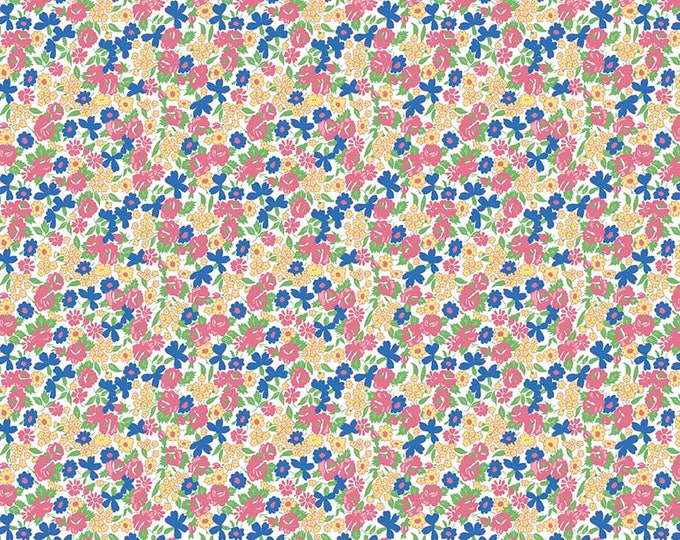 PRE-ORDER - Mae Flowers Fabric by Lindsay Wilkes from The Cottage Mama for Riley Blake Designs and Penny Rose Fabrics - Pink Tiny Floral