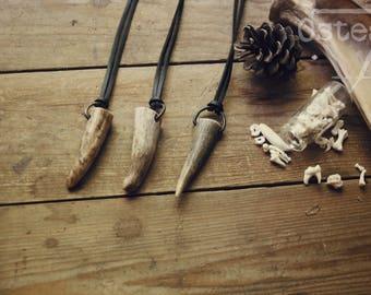 Guardian - Elk Antler necklace, naturally shed, adjustable length