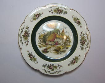 Woodstock Rock Rose - Ascot Service Plate Wood and Sons - Decorative Wall Plate.