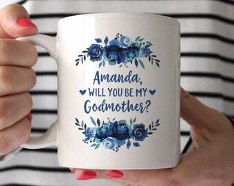 Personalized Godmother Proposal Mug Godmother Gift Mug Godmother Mug Godmother Gift for Best Friend Gift for Godmother Coffee Mug Cute Mug