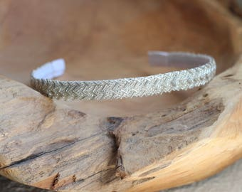 Silver Headband, Beaded Headband, Simple Headband for Women, Sparkly Headband, Formal Headband