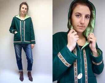 Hooded Winter Coat  // Eskimo Wool Jacket //  Inuit Coat  //  Wool Parka  //  Inuit Winter Coat // 70s Wool Jacket  //  THE ALASKAN